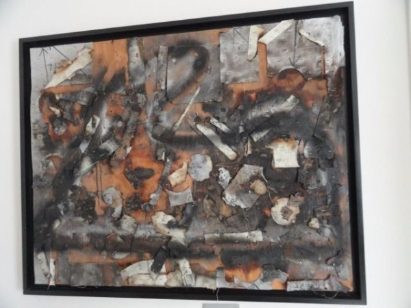 Vtg 70's Michael Luchs Detroit Mi Cass Corridor Multi Media Collage On Wood