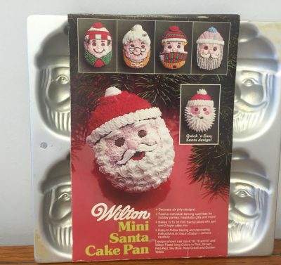 1983 Wilton Mini Santa Cake Pan #502-3878 Great Condition
