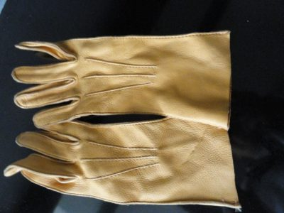 Vintage Ladies Dark Beige Deerskin Leather Gloves 6 NWOT Hand Stitched USA