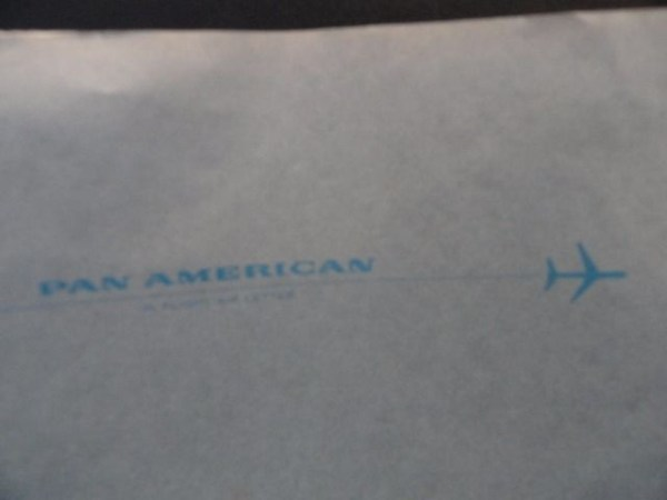 Vtg 1960's Pan American In Flight Air Letter Aerogramme P.O. Permit No. 6 Ex Con