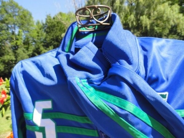 Men's Urban Up Pipline #5 Soccer Blue Green Jacket Preowned Excellent Cond Large