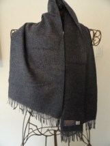 "Vintage ""PENDLETON"" Slate Blue Pure Virgin Wool Winter Scarf Made in USA"