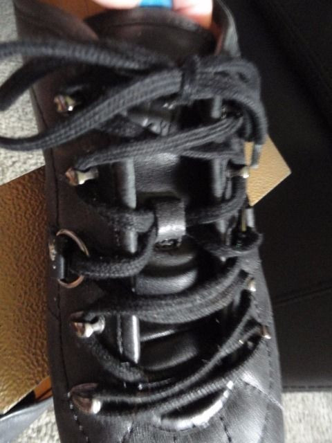 Men's POLO Ralph Lauren Black Leather Lace Up Shoes Size 8D Est 1967 Great Cond