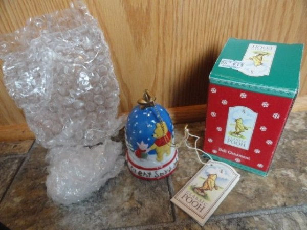 Pooh & Piglet Bell Ornament Disney Classic Pooh Christmas Ornament Midwest NIB
