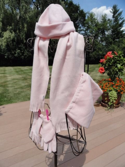 Ballet Pink Soft Backpack Scarf Beanie Hat & Gloves Size Medium Mixed Set