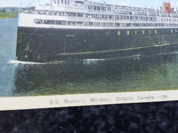 Vintage Postcard Uncirculated Unposted S.S. Noronic, Windsor, Canada---154