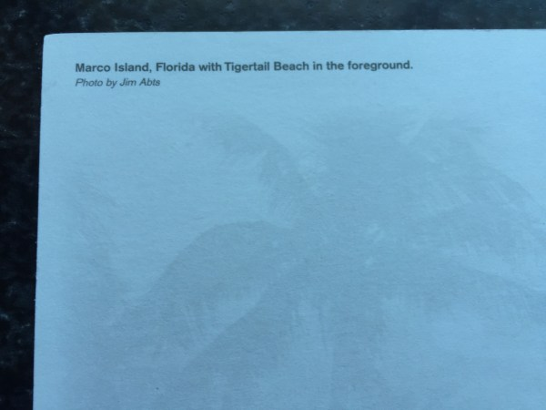 Vintage Postcard Uncirculated Unposted Marco Island, Florida Tigertail Beach
