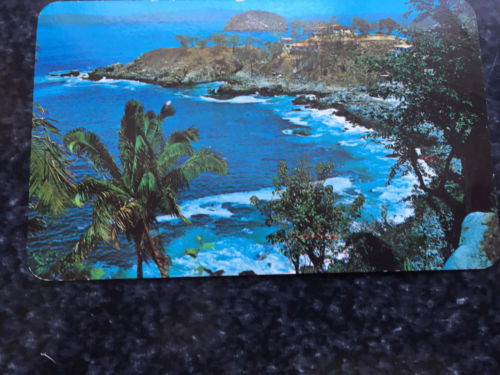 """Vtg Postcard Unposted View of Mismaloya Beach & """"Arches"""" Puerto Vallerta Mexico"""