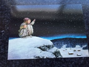 """Vtg Postcard Unposted Rolf Lidberg """"On A Starry Evening"""" Nordic Trollpainting"""