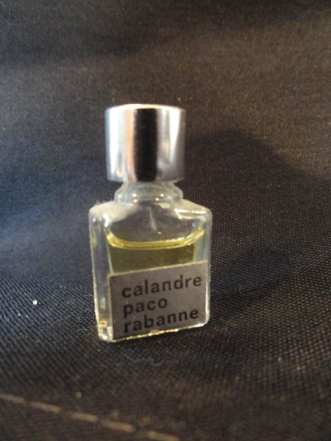 "Vintage Micro Mini Perfume calendre paco rabanne Almost Full 1"" Tall"