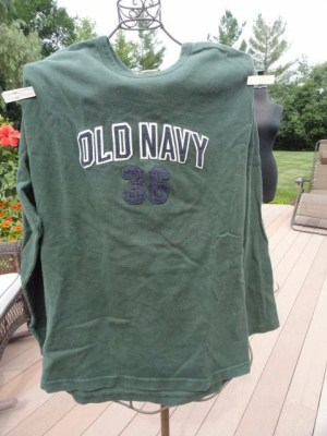 """OLD NAVY Heavy Cotton Long Sleeve """"36"""" Shirt Size XL Preowned Excellent Cond"""