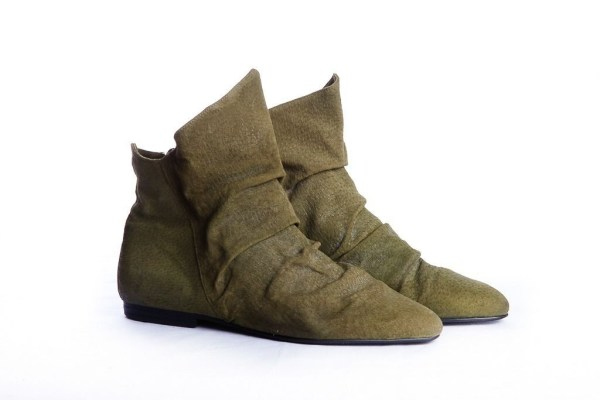 Vintage 70's Women's MISTER SHOES BY MARKOW Soft Green Leather Ankle Boots 6M