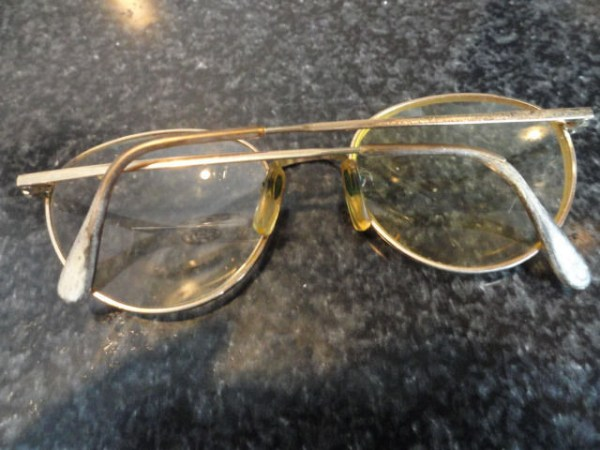 Vintage 1950's Round Metal LAMY Eyeglasses Arms Are Slightly Loose