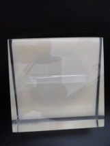Vintage 1970's Millicent Zahn Lucite Picture Frame With Label Round Form Ex Cond