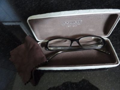 Authentic COACH Eyeglasses Pilar 2037 Brown Case Cloth Butterfly Discountinued