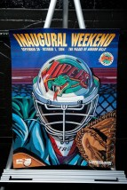 1994 Detroit Vipers IHL Hockey INAUGURAL WEEKEND Poster Palace Of Auburn Hills