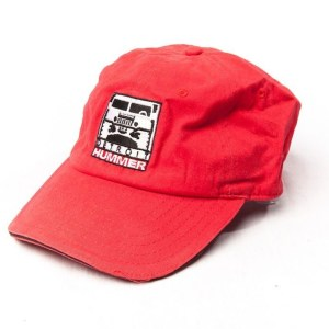 Detroit Hummer Red Baseball Cap 100% Cotton NWOT Adjuustable By gear