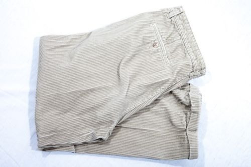 Vintage Men's CR Club Room Beige Corduroy Pants 38/29 Preowned Great Cond
