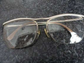 Vintage Eyeglasses Rectangle No Eye Wire Calvin Klein Unique Construction