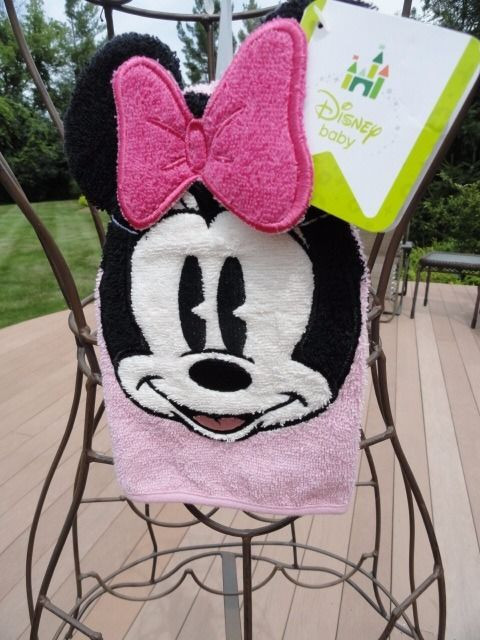 "Disney Baby Minnie Mouse Wash Mitt Wash Cloth 5.5"" x 8.25"" Kohls All Cotton NWT"