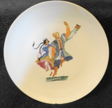 "Vintage Favolina China Polish Dancers ""Mazur"" Plate Made In Poland Mint Cond"