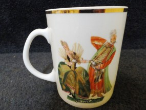 "Vintage Favolina China Polish Dancers ""Polonez"" Mug Made In Poland Mint Cond"