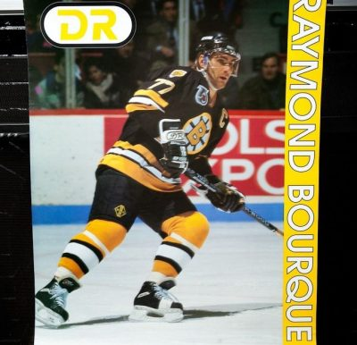 NFL Hockey DR Poster RAYMOND BOURQUE Boston Briuns Defenseman