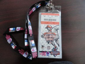 MLB 2005 ALL STAR GAME Ticket Lanyard July 12 Comerica Park Detroit MI