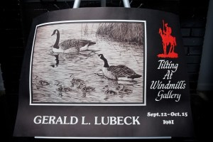 VTG Gerald L. Lubeck Poster Tilting At Windmills Gallery 1981 Canadian Geese