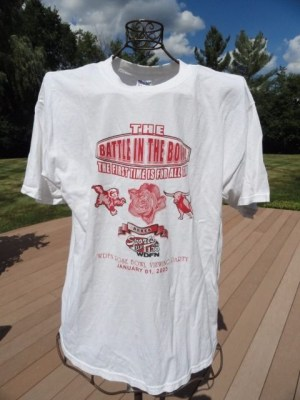 Unisex The Battle In The Bowl WDFN Rose Bowl Viewing Party T-Shirt Jan. 1, 2005