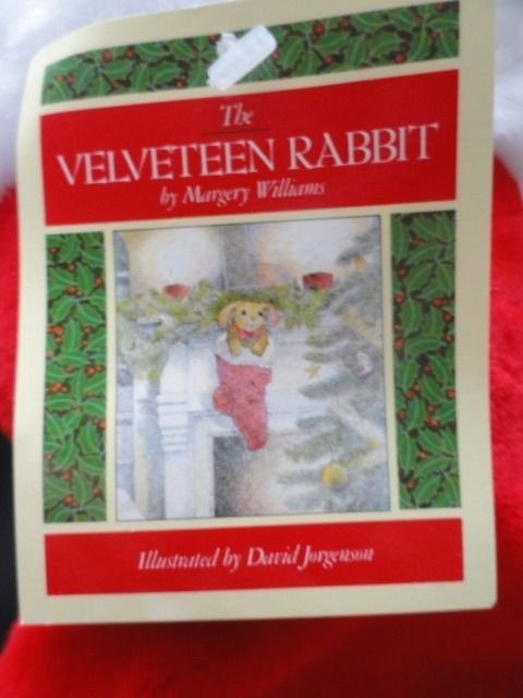 "Vintage 1985 The Velveteen Rabbit Christmas Stocking Stuffed Animal 15"" x 6"" NWT"