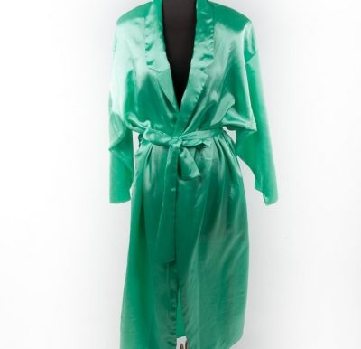 Vintage JOSIE By Natori Saks Fifth Avenue Lime Green Robe With Belt Glam