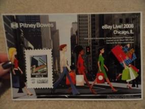Ebay Live! 2008 Chicago Il Pitney Bowes MAGNIFICENT MILE 42 Cent Stamp Page