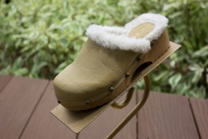 "Girl's ME TOO Kids Winter Clog Slip On Beige Faux Fur PAVO 1 M 2"" Platform Heel"