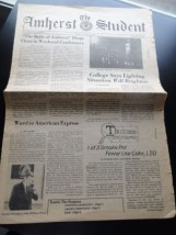 Vtg The Amherst Student Newspaper October 6, 1980 Volume CX Number 8 Pages 8