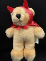 "Vintage Dakin Halloween Teddy Bear 1986 Red Devil Cosume 6"" Excellent Condition"