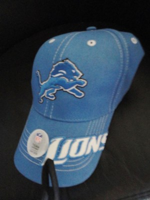 NFL Detroit Lions NFL Team Apparel HeadGear Hat Officially Licensed Velcro Back