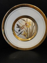 "Collector 6"" Plate Westland Co. Made by Chokin Hummingbird & Daffodils Japan"