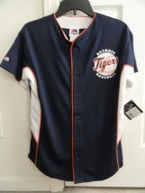 MLB Detroit Tigers Majestic Boy's Button Down Jersey 24 Cabrera Large 14--16 NWT