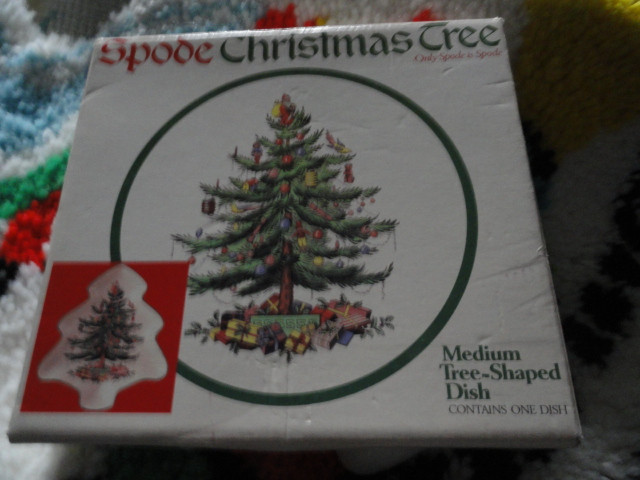 Vintage Christmas Spode Christmas Tree Dish With Original Box S3324p