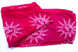 Women's Hot Pink Sun Batik Drawstring Pants Capris are so breezy