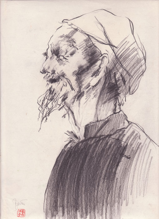 charcoal drawing by friedrich zettl