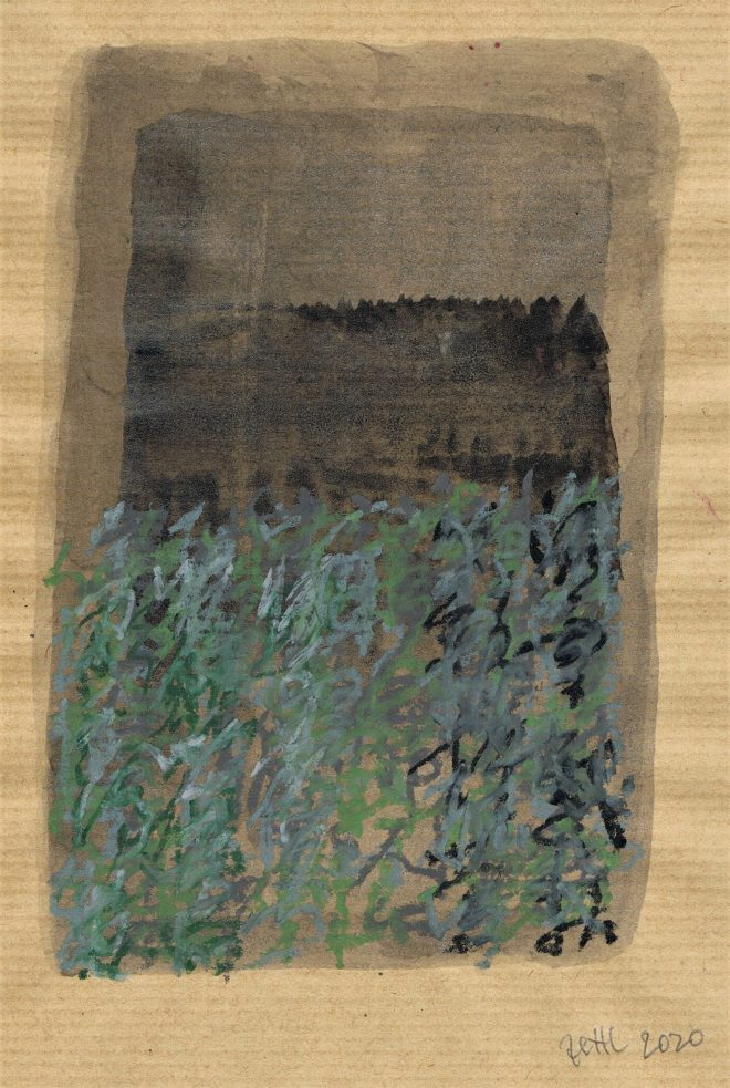 poem on waldviertel ink and pastels by friedrich zettl