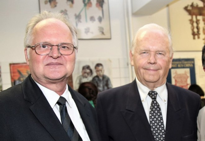 photo professor gerd kaminski and friedrich zettl