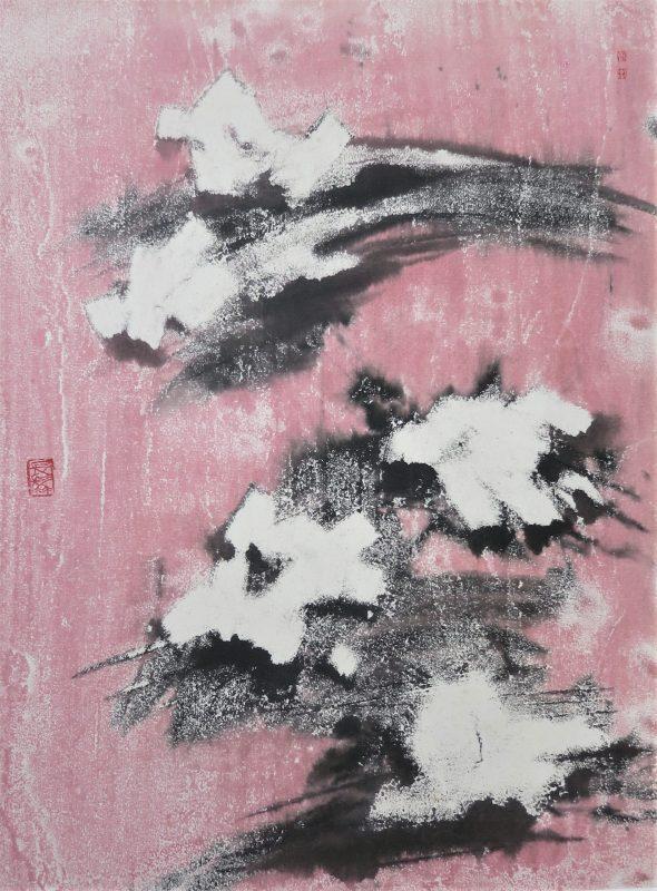 cubist landscape ink on rice paper