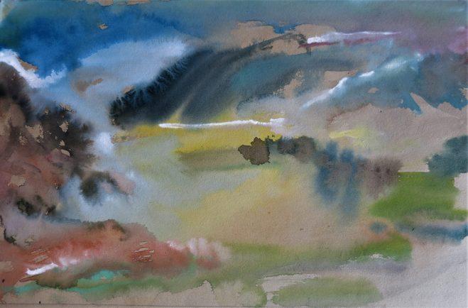 landscape water color
