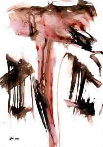 composition in pink and black