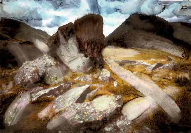landscape with rocks redone
