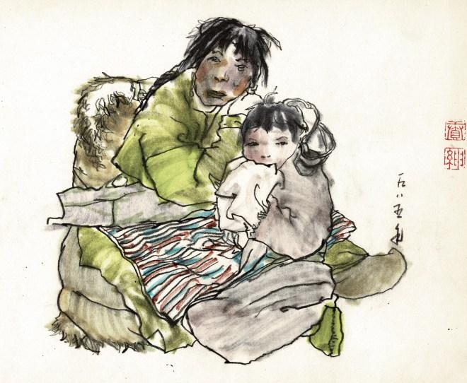 Friedrich Zettl early sketchbook chinese minorities