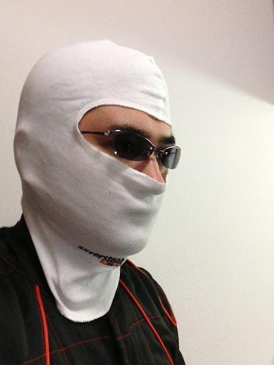 フェイスマスク着用